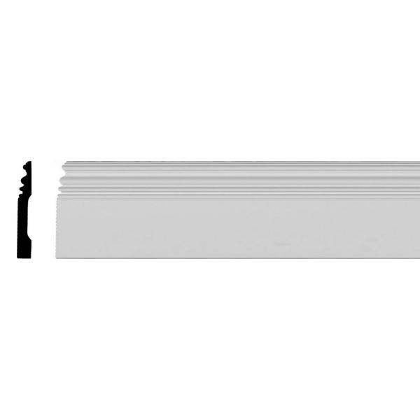 3/4 in. x 5 in. x 94-1/2 in. Primed Polyurethane Classic Baseboard Moulding
