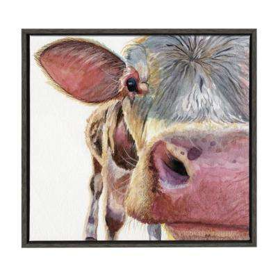 "Sylvie ""Up Cow and Personal"" by Redstreake Framed Canvas Wall Art"