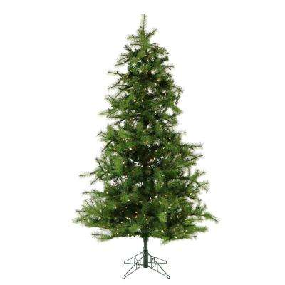 12 ft. Pre-lit Southern Peace Pine Artificial Christmas Tree with 1950 Clear Smart String Lights