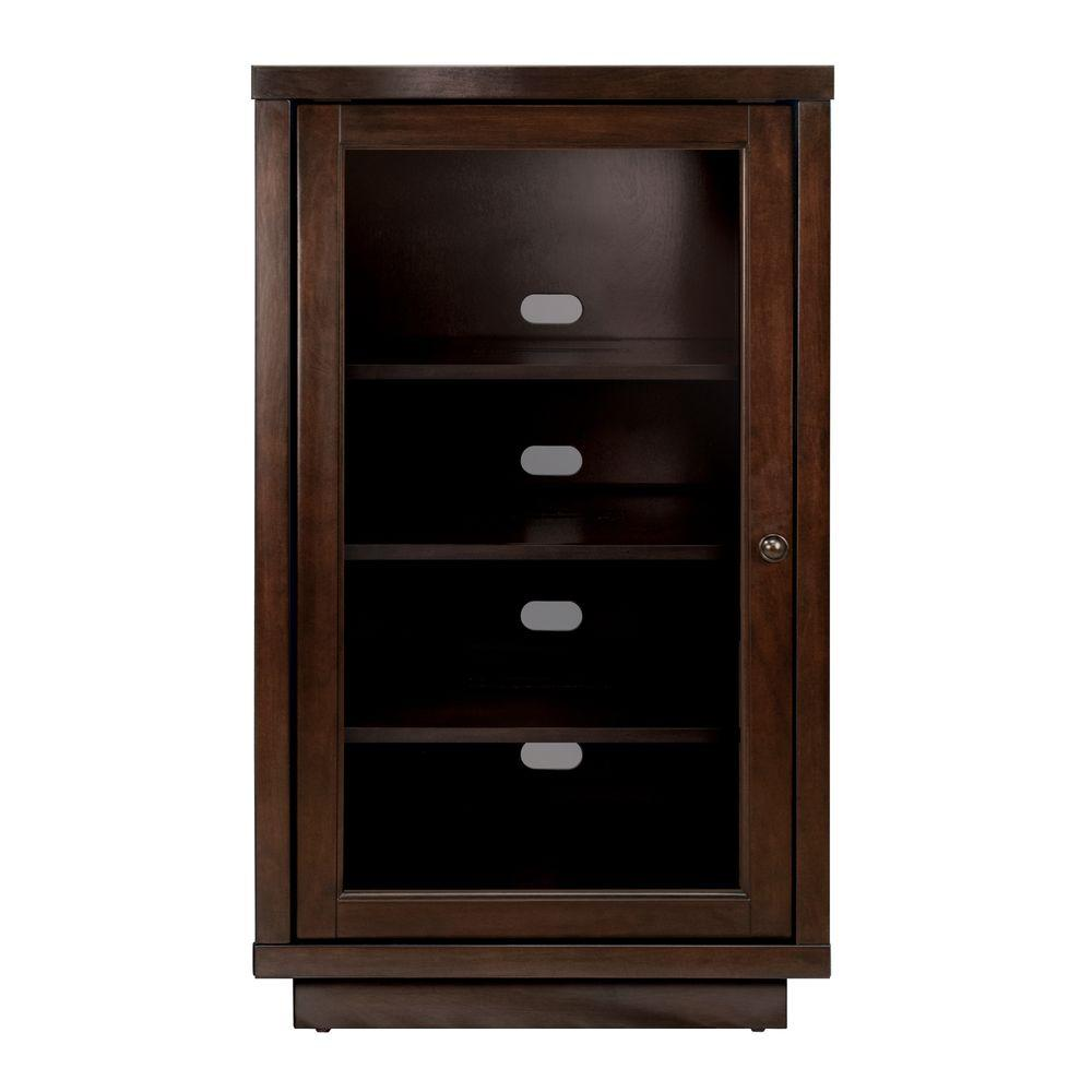 Audio Video Component Cabinet Dark Espresso