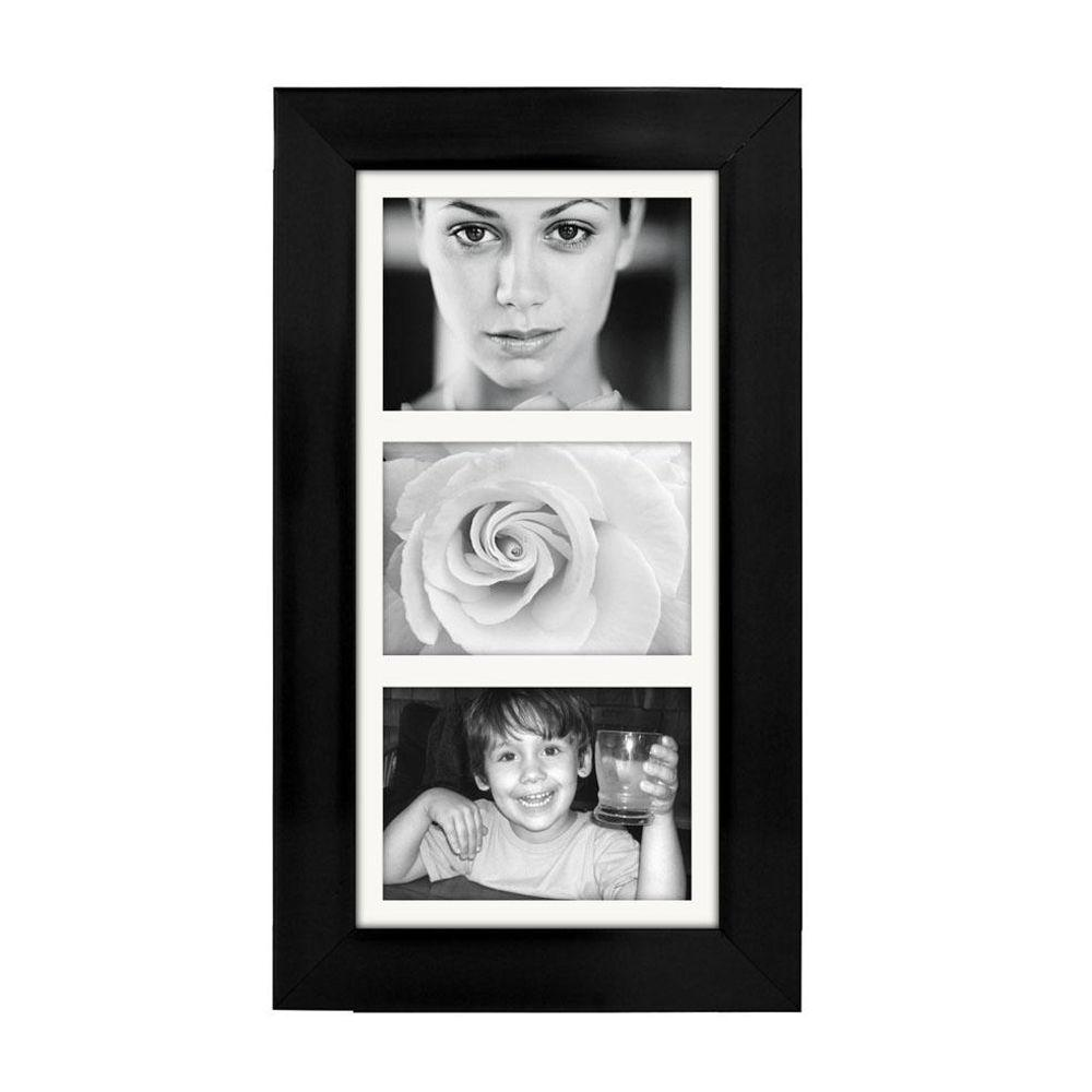 Home Decorators Collection 20.25 in. W x 11.5 in. H 3-Opening Manhattan Black Collage Picture Frame