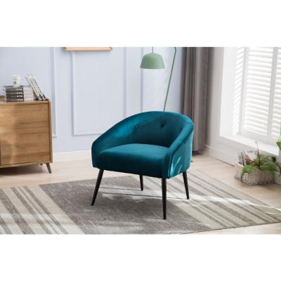 Blue Stylish Upholstered Velvet Super Soft Accent Chair