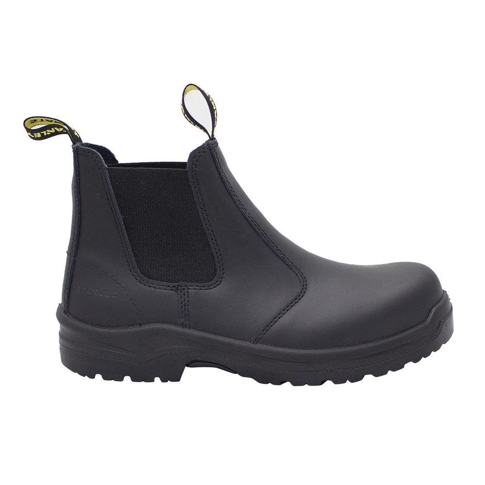 Dredge Men's Size 10.5 Black Leather Steel Toe Chelsea Work Boot