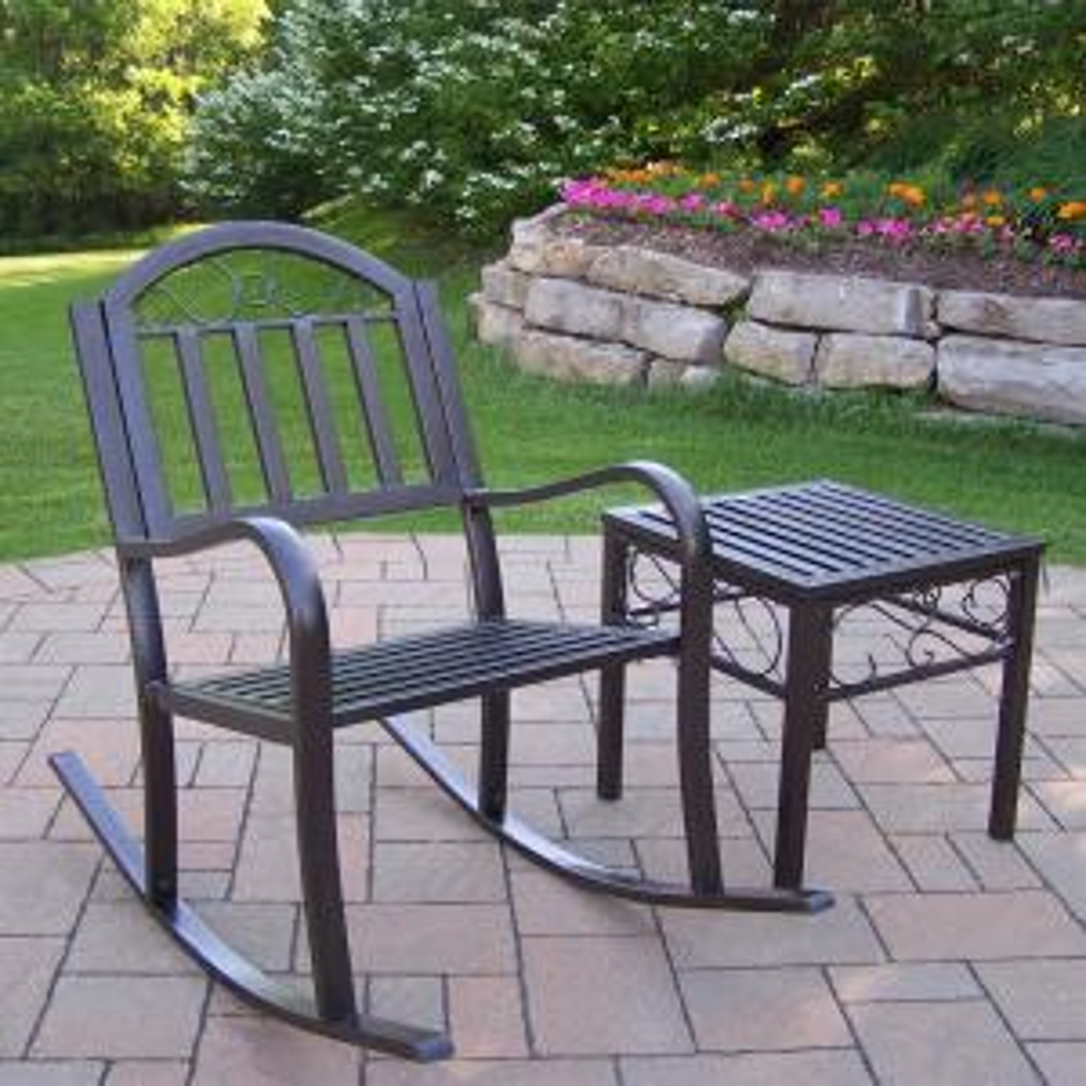 Rochester 2-Piece Aluminum Outdoor Bistro Set by