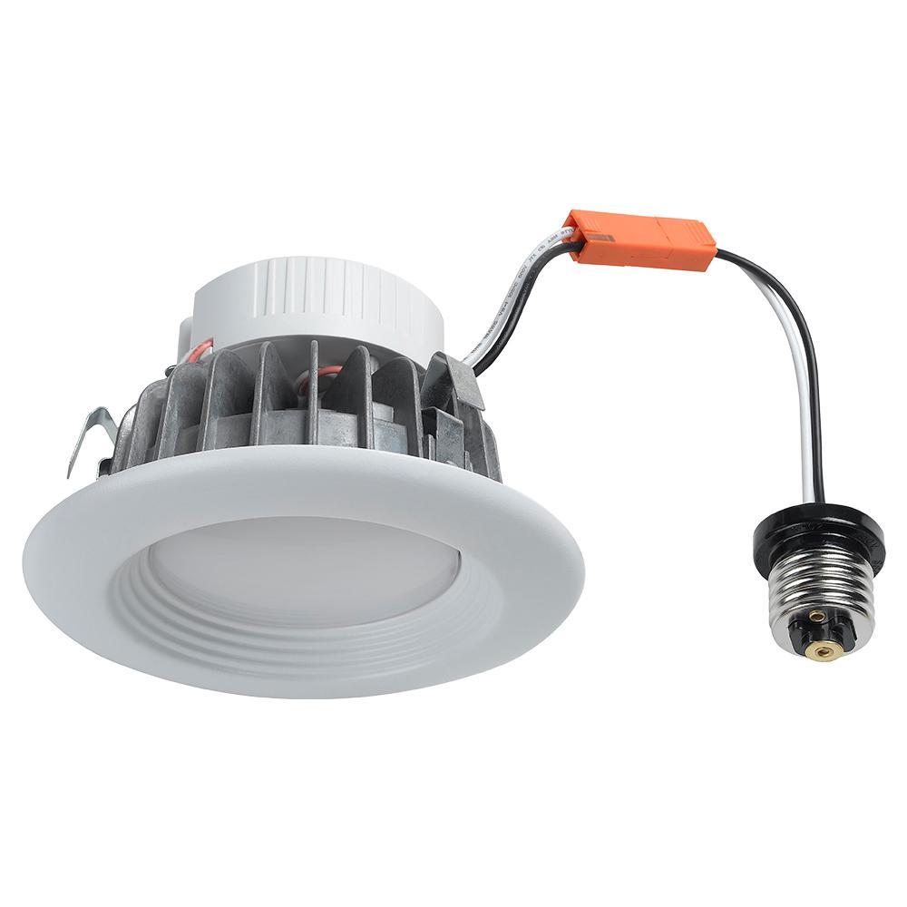 4 in. Matte White Recessed LED Retrofit Trim Kit