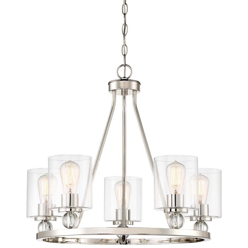 Minka Lavery Studio 5 Collection 5 Light Polished Nickel