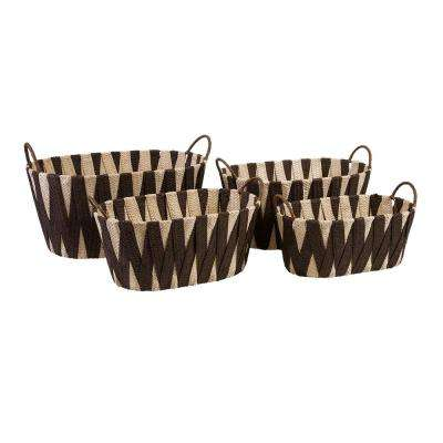 Multi-Colored Woven Basket (Set of 4)