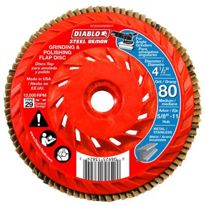 4-1/2 in. 80-Grit Steel Demon Grinding and Polishing Flap Disc with Integrated Speed Hub