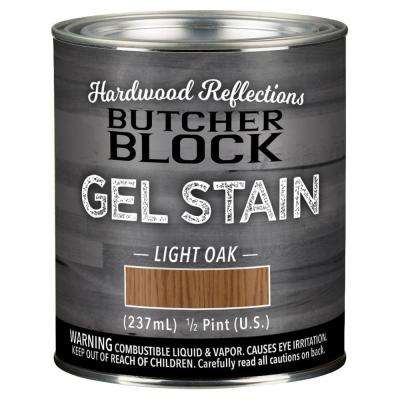 1/2 pt. Light Oak Oil-Based Satin Interior Butcher Block Wood Gel Stain