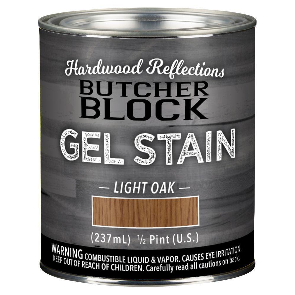 HARDWOOD REFLECTIONS 1/2 pt. Light Oak Oil-Based Satin Interior Butcher Block Wood Gel Stain