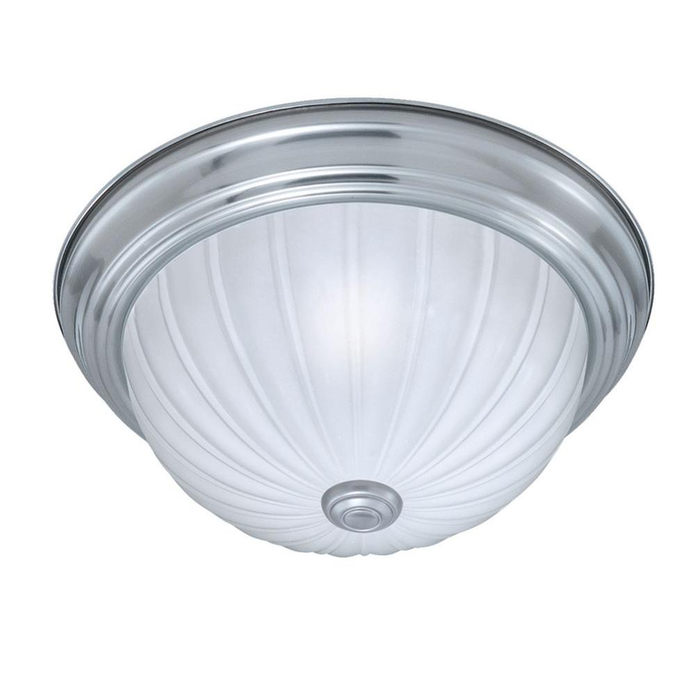 Thomas Lighting 2-Light Brushed Nickel Ceiling Flushmount