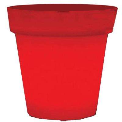 Twist Production 1-Light Outdoor Red Lighted Planter