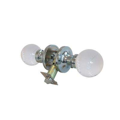 Baseball Crystal Chrome Privacy Door Knob with LED Mixing Lighting Touch Activated