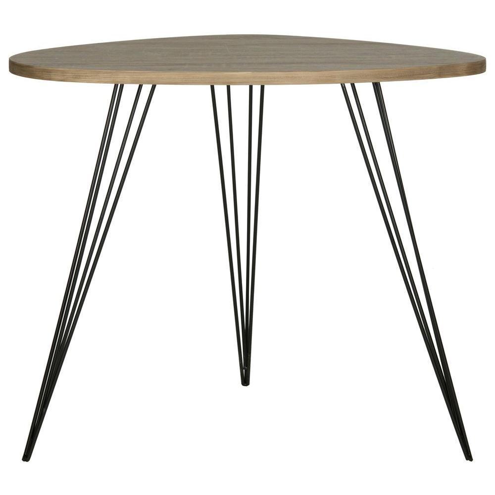 Wynton Oak and Black End Table