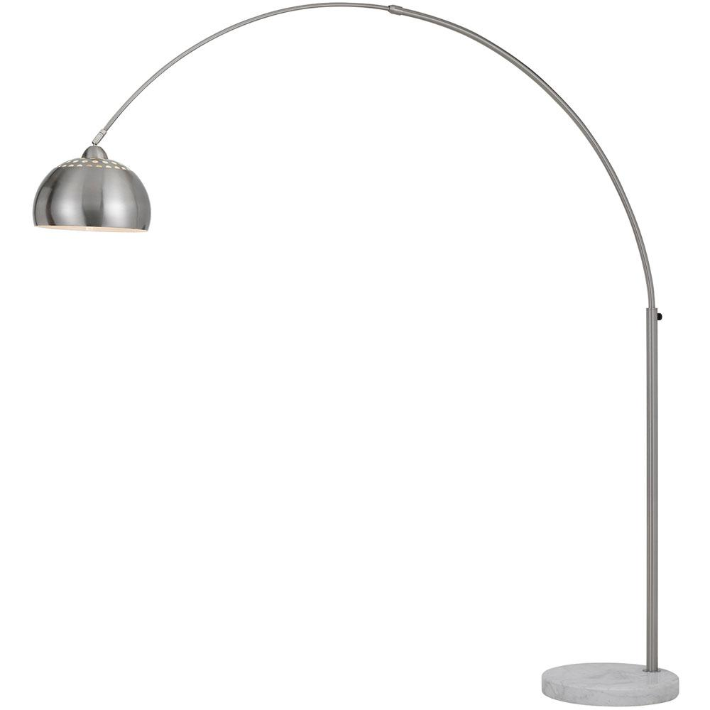 premium selection 4fa60 a56f5 AF Lighting Orb 73 in. Nickel Floor Lamp with Metal Globe