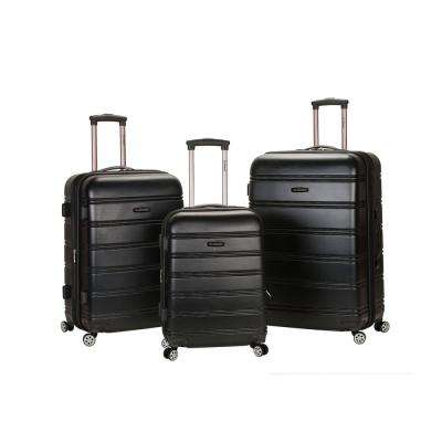 Rockland Melbourne 3-Piece Hardside Spinner Luggage Set, Black