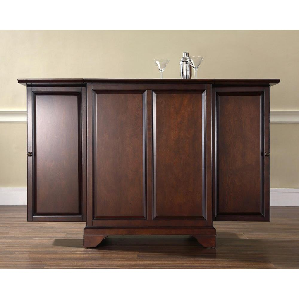 Crosley Lafayette Mahogany Bar With Expandable Storage Kf40001bma The Home Depot
