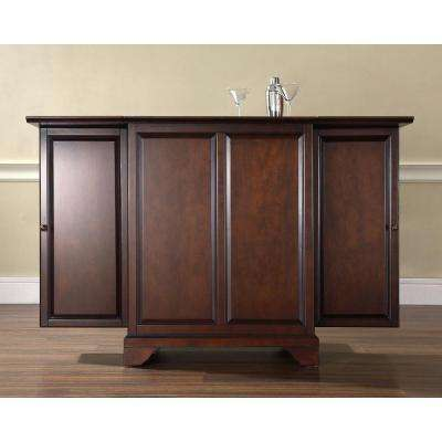 LaFayette Mahogany Bar with Expandable Storage