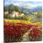 """24 in. x 24 in. """"Fleur du Pays I"""" by Image Conscious Canvas Wall Art"""
