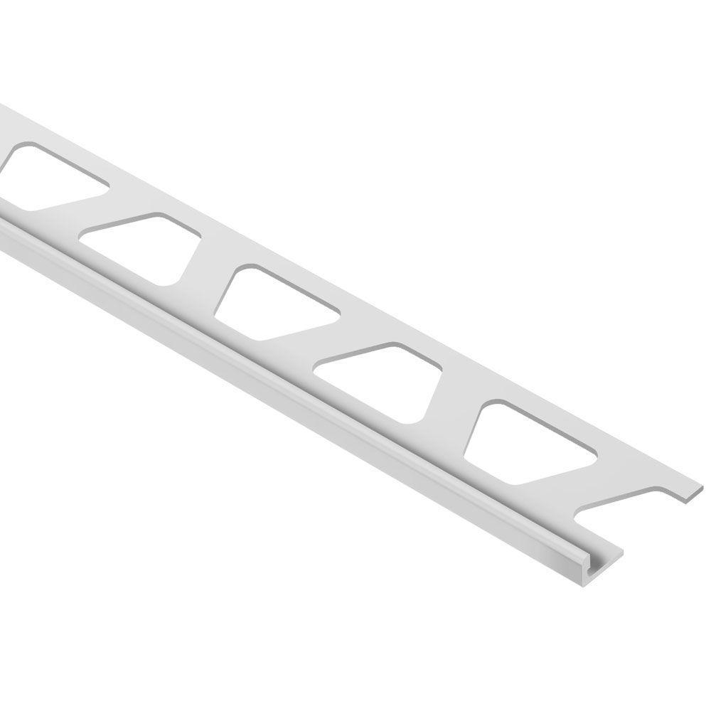 7//16, Light Grey HG Schluter Jolly Coated Aluminum Tile Edging Trim