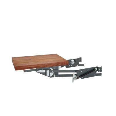 Heavy-Duty Appliance Lift with Walnut Shelf Soft-Close