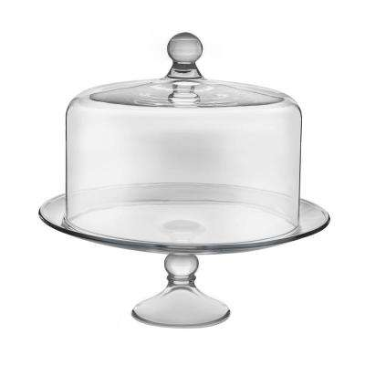 Selene 2 Piece Clear Gl Cake Stand With Dome