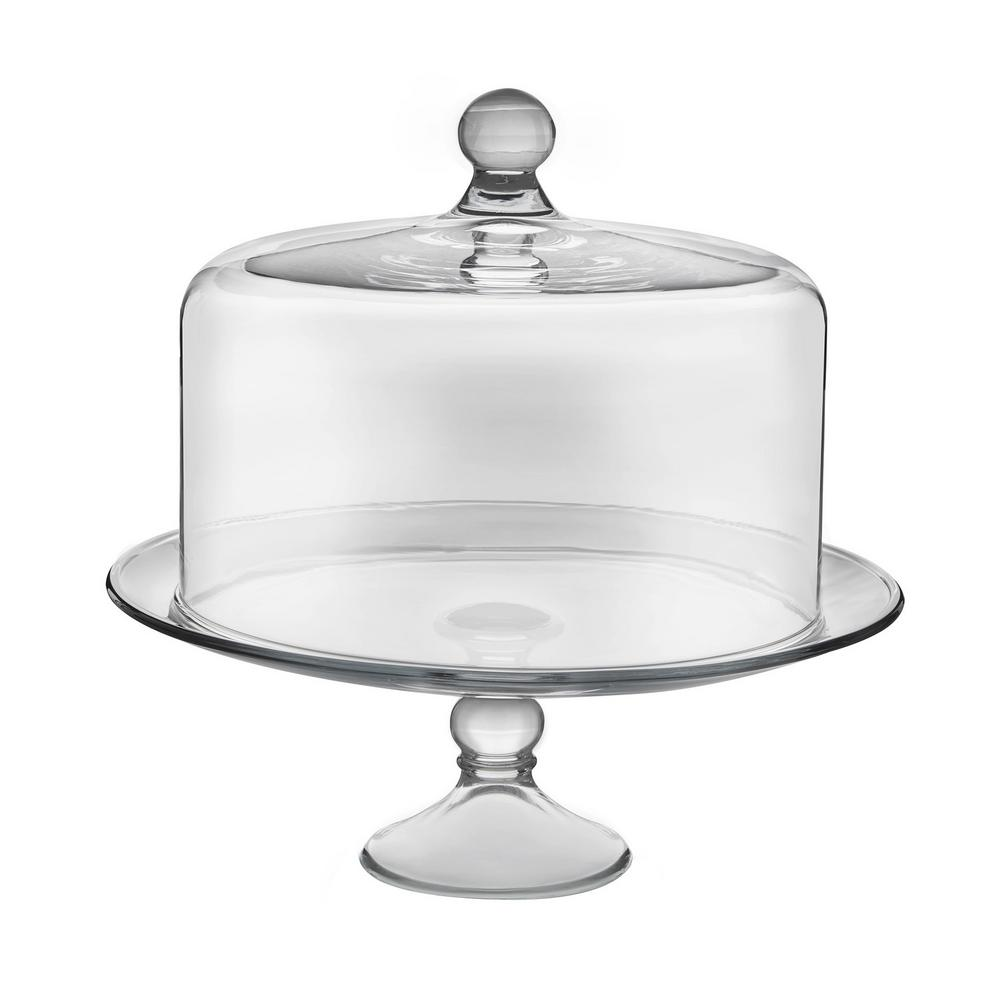 Clear Glass Cake Stand Dome Selene 2 piece Lead Free Home Kitchen Serveware NEW  sc 1 st  eBay & Clear Glass Cake Stand Dome Selene 2 piece Lead Free Home Kitchen ...