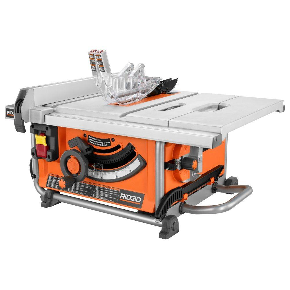 RIDGID 15 Amp 10 in. Compact Table Saw-R4516 - The Home Depot