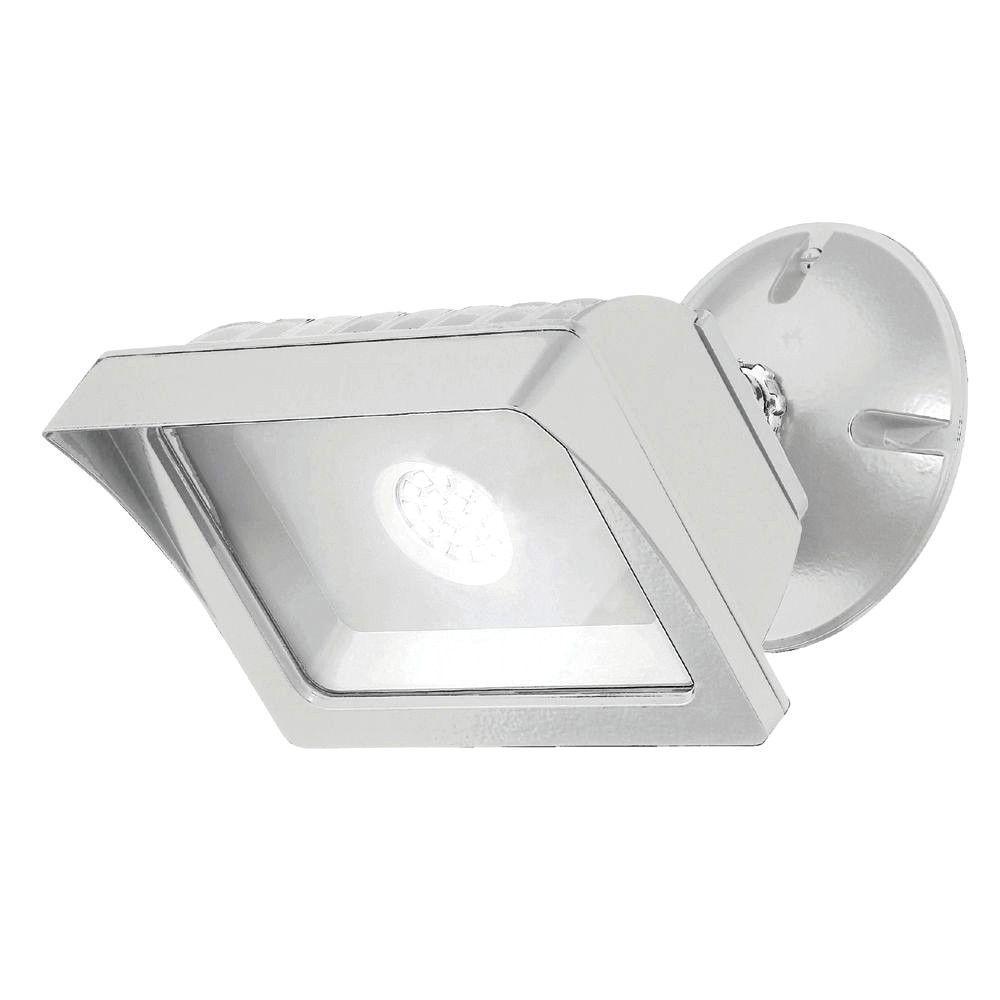 EnviroLite LED Adjustable Single-Head White Outdoor Flood Light (18-Pack)