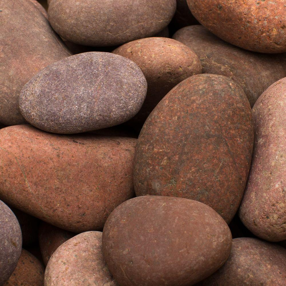 1 in. to 3 in. 30 lb. Rosa Mexican Beach Pebble - Red - Small - Landscape Rocks - Hardscapes - The Home Depot
