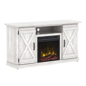 Classic Flame Cottonwood 47.50 inch Media Console Electric Fireplace in White by Classic Flame