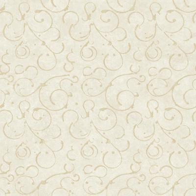 Shin Silver Golden Scroll Texture Wallpaper