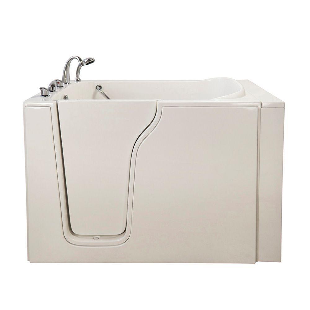 Bariatric 4.58 ft. x 35 in. Walk-In Bathtub in White with Left Door/Drain