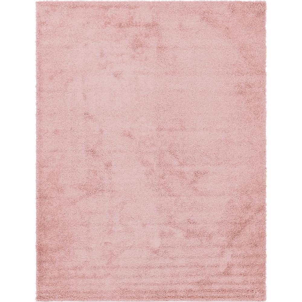 Unique Loom Davos Shag Dusty Rose Pink 10 Ft X 13 Ft