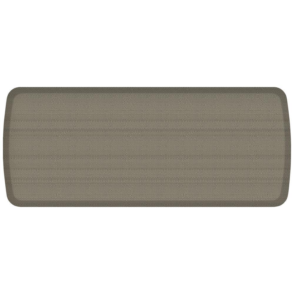 Elite Rattan Galveston Grey 20 in. x 48 in. Comfort Kitchen Mat