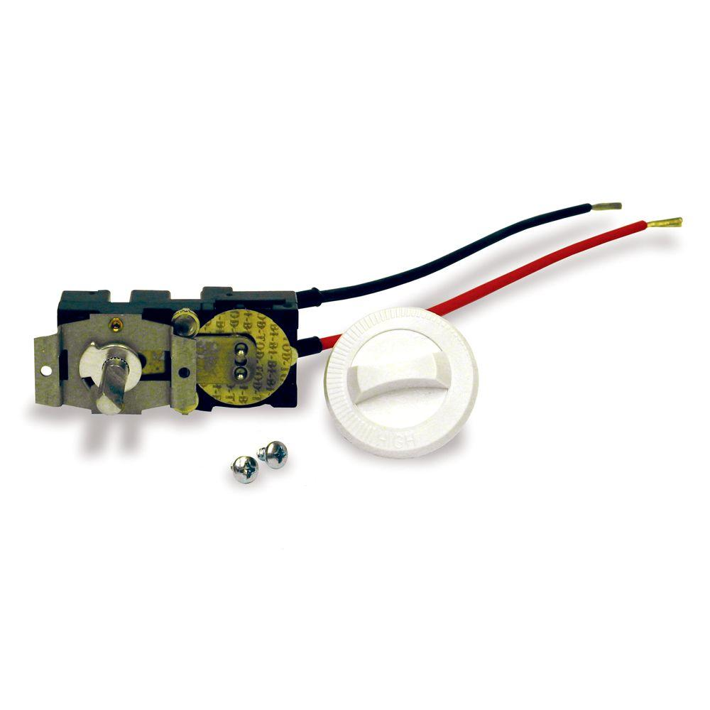 SinglePole 22 Amp Thermostat Kit Built In Control Adjustable Dial