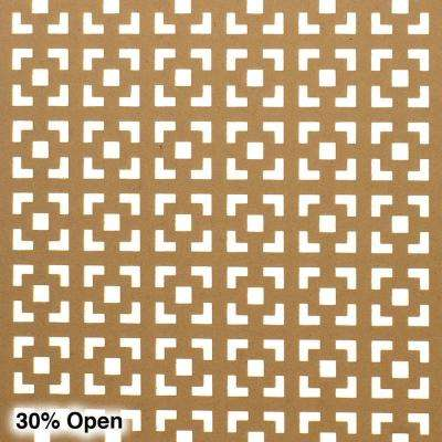 72 in. x 24 in. x 1/8 in. Unfinished Multi Square Decorative Perforated Paintable MDF Screening Panel Insert