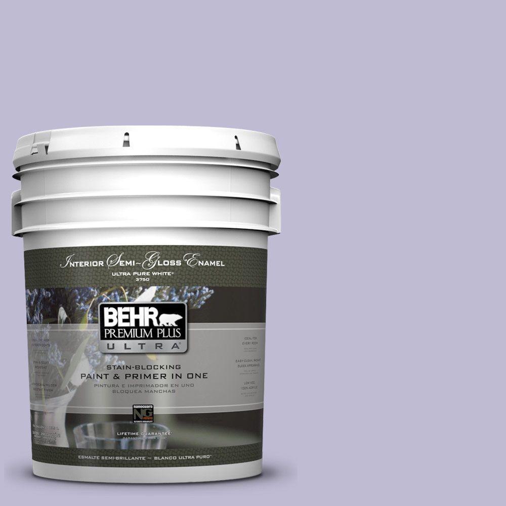 5-gal. #640C-3 Twilight Pearl Semi-Gloss Enamel Interior Paint