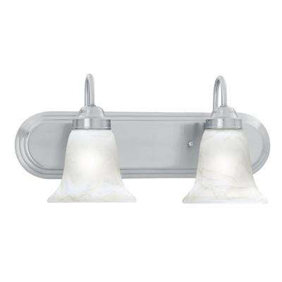 Homestead 2-Light Brushed Nickel Wall Vanity Light
