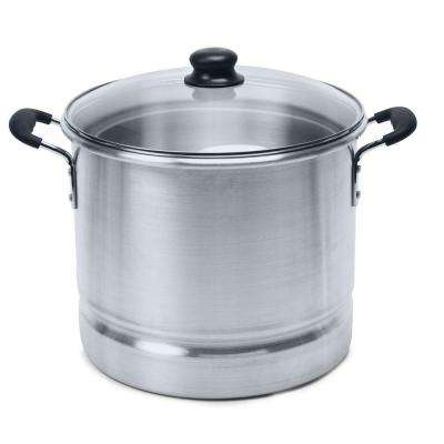 Aluminum 24 Qt. Tamale and Seafood Steamer with Glass Lid