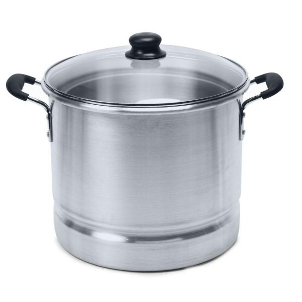 IMUSA Aluminum 24 Qt. Tamale and Seafood Steamer with Glass Lid