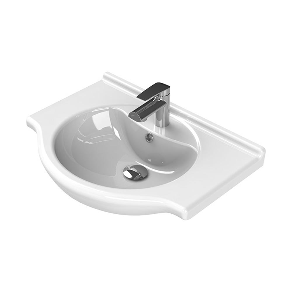 Nil Wall Mounted Bathroom Sink in White