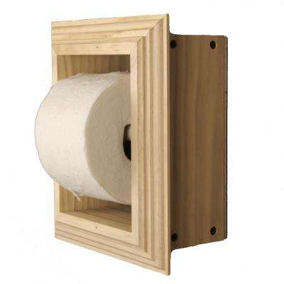 Newton Recessed Toilet Paper Holder in Unfinished with Newport Frame