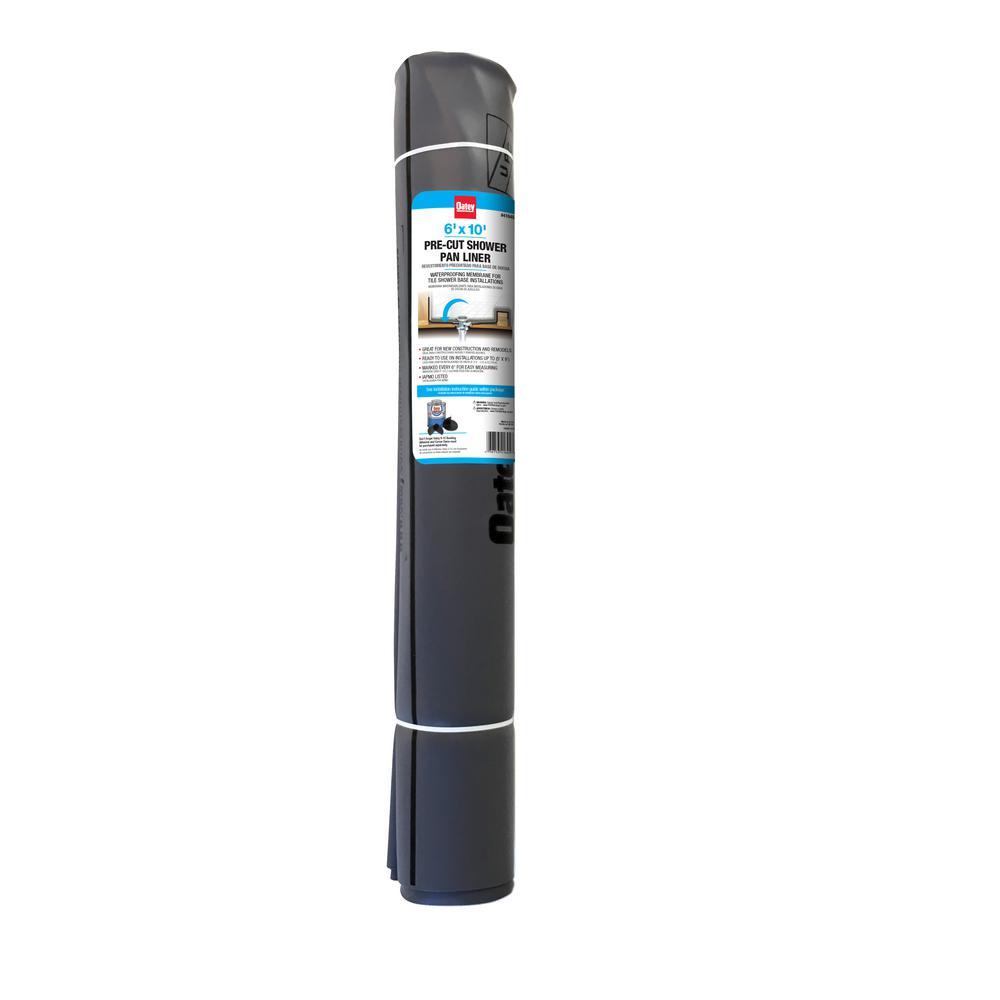 6 ft. x 10 ft. Gray PVC Shower Pan Liner