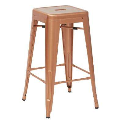 Bristow 26 in. Copper Metal Barstool (4-Pack)