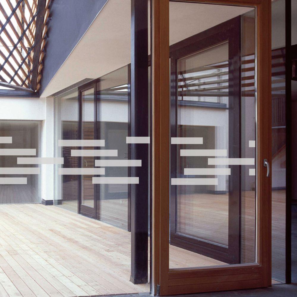 51 in. x 14 in. Random Blocks Premium Glass Etch Window Film