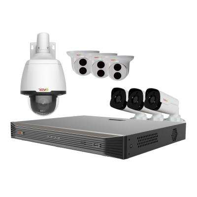 Ultra HD 8-Channel Smart 4K 2TB NVR Surveillance System with 7 Cameras and Night Vision