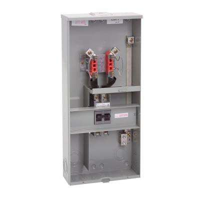 200-Amp 4 Terminal Ringless Overhead/Underground Meter Socket Main Breaker Combination