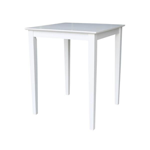 Pure White 30'' Square Counter-height Table