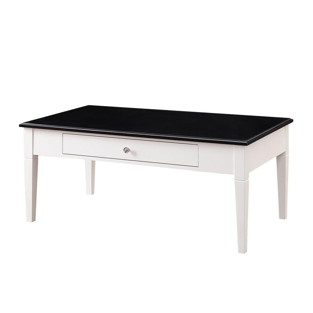 USL Regency White Coffee TableSKC The Home Depot - Glossy black coffee table
